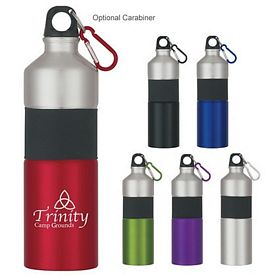 Promotional 25 oz Two-Tone Aluminum Bottle With Rubber Grip