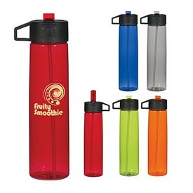 Customized 25 Oz Water Bottle With Straw