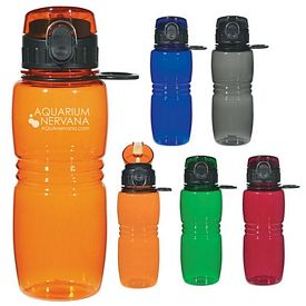 Promotional 18 oz. Bottle with Pop up Lid
