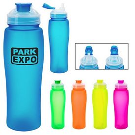 Customized 23 Oz Fluorescent Flip Tob Water Bottle