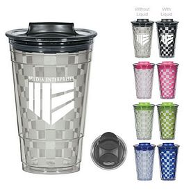 Promotional 16 Oz Color Changing Checker Tumbler