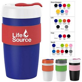 Customized 16 Oz Silicone Band Barista Cup