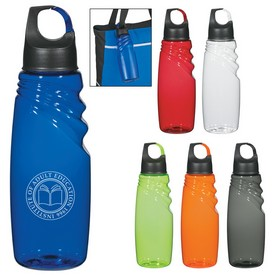 Custom 24 Oz Crest Carabiner Sports Bottle