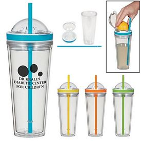 Promotional 20 Oz Juicer Straw Tumbler