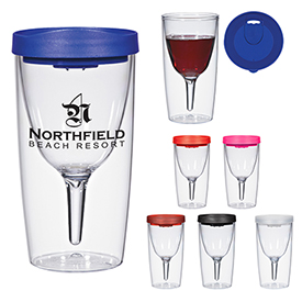 Promotional 10 Oz Vino-2-Go Wine Tumbler