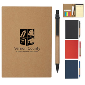 Promotional Meetingmate Notebook With Pen And Sticky Flags