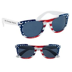 Custom Patriotic Malibu Sunglasses
