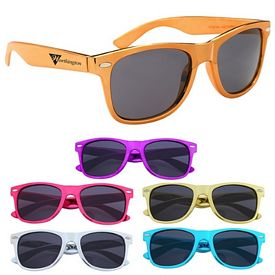 Promotional Metallic Polycarbonate Malibu Sunglasses