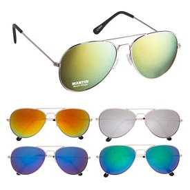Custom Color Mirrored Aviator Sunglasses