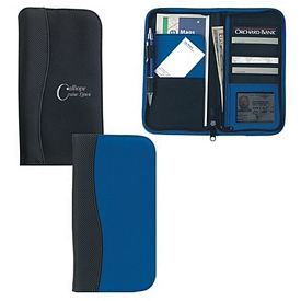 Promotional Microfiber Travel Wallet With Embossed Pvc Trim
