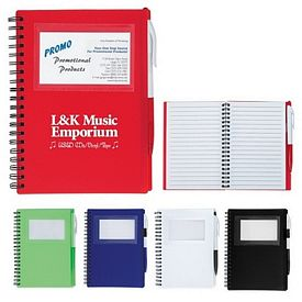 Customized Spiral Notebook With Id Window
