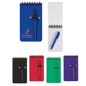 Custom Spiral Pocket Jotter With Pen