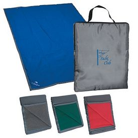 Customized Reversible Fleece Nylon Blanket With Carry Case