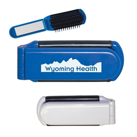 Promotional Kwik-Fix Folding Comb with Mirror