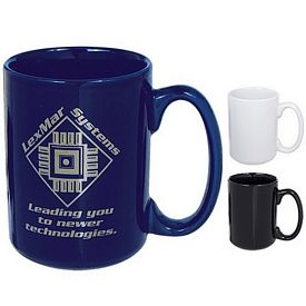 Promotional Ceramic Mugs: Promotional 15 oz. El Grande Ceramic Mug