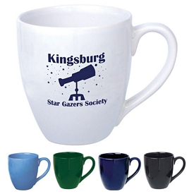Promotional Ceramic Mugs: Promotional 14 oz. Bistro Ceramic Mug
