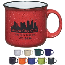 Promotional Ceramic Mugs: Promotional 15 oz. Campfire Coffee Mug
