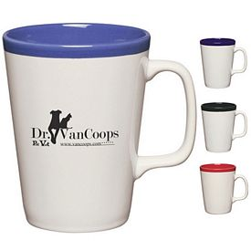 Promotional Ceramic Mugs: Promotional 14 oz Two-Tone Java Mug