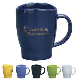 Promotional Ceramic Mugs: Promotional 14 oz. Wave Coffee Mug