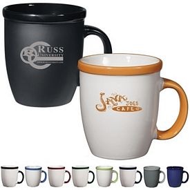 Promotional Ceramic Mugs: Promotional 12 oz. Vista Coffee Mug