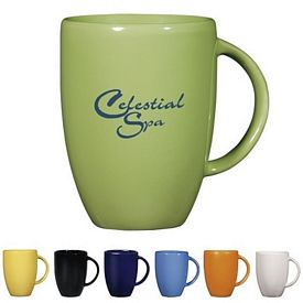 Promotional Ceramic Mugs: Promotional 12 oz. Europa Coffee Mug