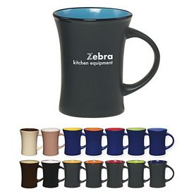 Promotional Ceramic Mugs: Promotional 10 oz Aztec Flare Coffee Mug