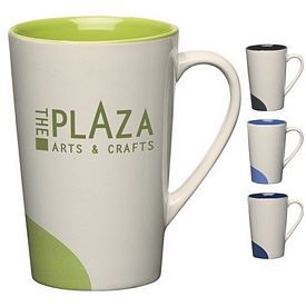 Promotional Ceramic Mugs: Promotional 12 oz Half-Moon Ceramic Mug