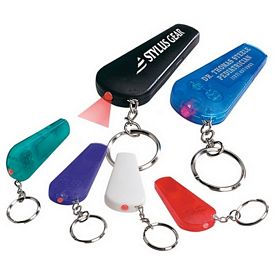 Promotional Whistle Light Imprinted Key Chain