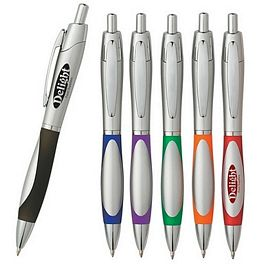 Promotional Sierra Silver Retractable Pen