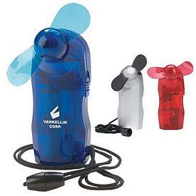 Promotional Mini Battery Power Fan with Lanyard