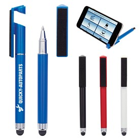 Promotional Stylus Pen With Phone Stand And Screen Cleaner