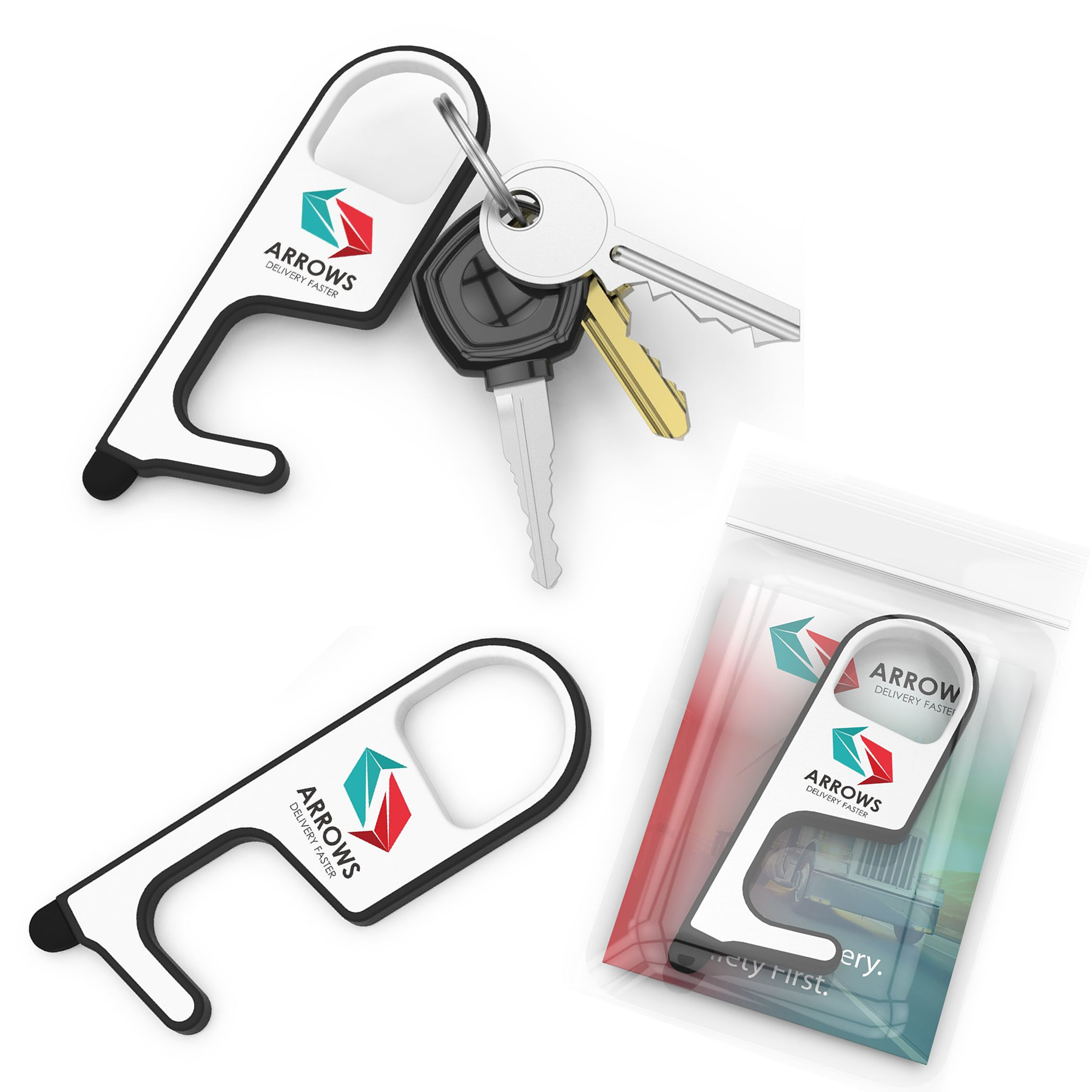 Promotional No Touch Tool Key Chain