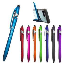 Custom Sleek Write Yoga Stylus Pen And Phone Stand