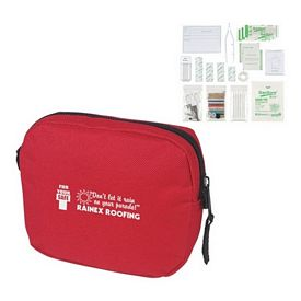 Custom First Aid Kit Red Pouch