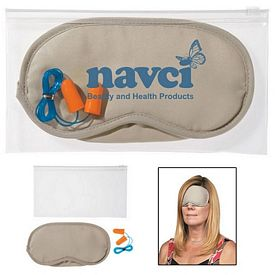 Custom Ear Plugs And Eye Mask Set