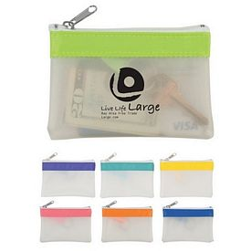 Promotional Bright N Fun Zippered Coin Pouch