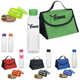 Promotional Budget Bottle Lunch Container Kit