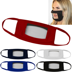 Promotional Face Mask With Anti-Fog Mouth Window
