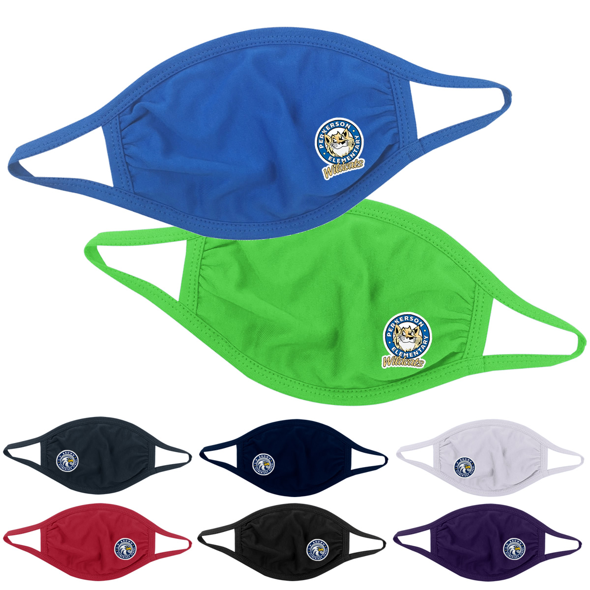 Promotional Youth Cotton Reusable Face Mask Full Color