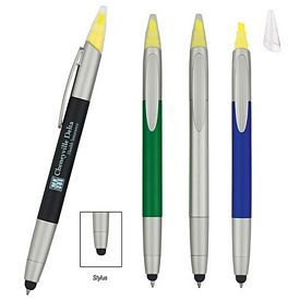 Custom 3-In-1 Highlighter Stylus Twist Pen