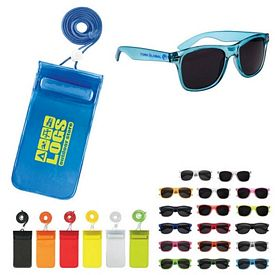 Custom Poolside Fun Pouch Sunglasses Kit