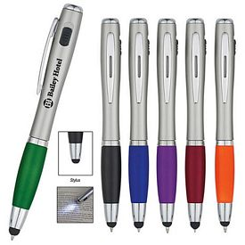 Custom Trio Pen With Led Light And Stylus