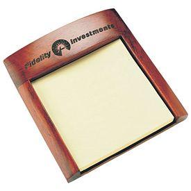 Promotional Rosewood Notepad Holder