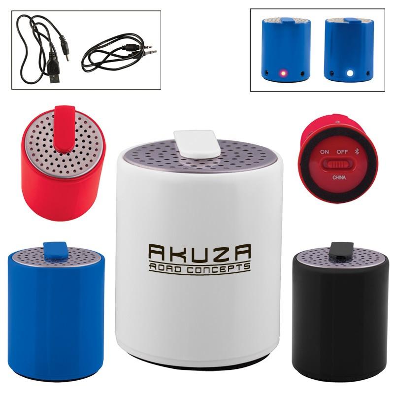 578ffb460 Promotional Round Plastic Mini Bluetooth Wireless Speaker ...