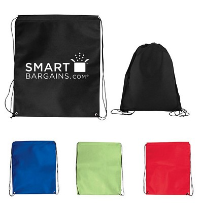 Promotional Jumbo Nonwoven Drawstring Cinch Up Backpack
