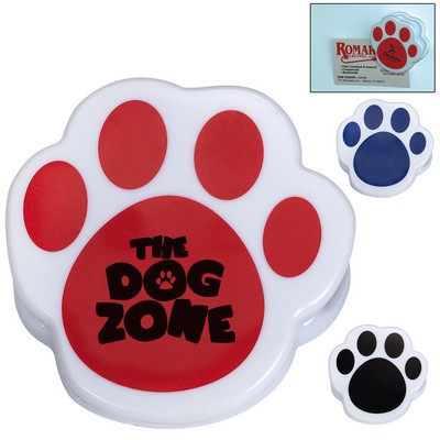 Custom Pet Paw Magnetic Memo Clip