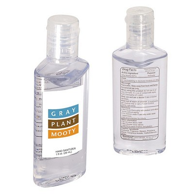 Promotional Hand Sanitizer In Oval 1 Oz Bottle