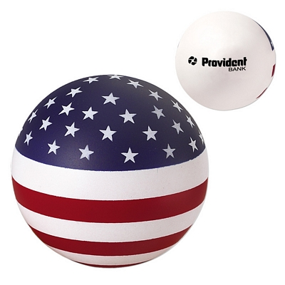 Customized Usa Round Ball Advertising Stress Reliever