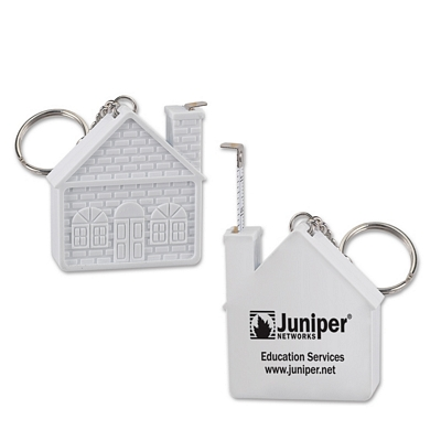 Promotional House 3 Ft Tape Measure Key Chain