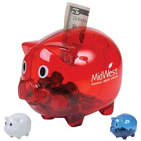 Customized Translucent Piggy Bank